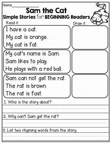 simple stories for beginning readers i love the comprehension questions at the end teach