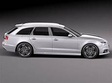 Audi A6 Avant 2015 3d Model Max Obj 3ds Fbx C4d Lwo Lw Lws