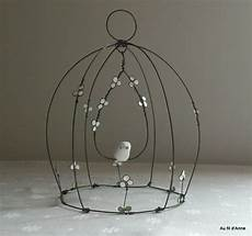cage cloche fleurs blanches wire wonders wire crafts