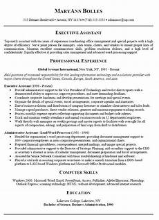 sle resume for administrative assistant 2019 what to