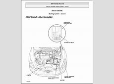 starting   Replacing Starter Relay on Honda Accord 2003