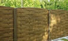 cl 244 ture b 233 ton plaques imitation bois tress 233 cloture du