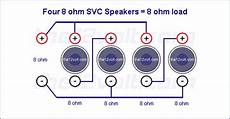 2 Ohm Dvc 12 Quot Subwoofer Wiring Diagram by How To Wire 4x 8 Ohms To 4 Ohms Avs Forum Home Theater