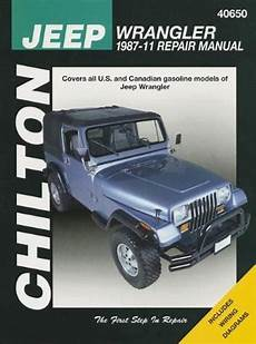 car repair manuals online pdf 1992 jeep wrangler spare parts catalogs jeep wrangler and yj 1987 2011 chilton owners service repair manual 1563929848 9781563929847