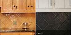 How To Paint Kitchen Tiles Before And After by How To Paint A Tile Backsplash My Budget Solution
