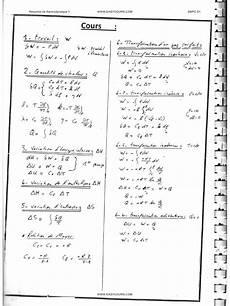 r 233 sum 233 s de thermodynamique 1 tr 232 s importants fichier pdf