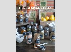 spice jar labels   Worldlabel Blog