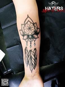 Feder Unterarm - traumf 228 nger dreamcatcher lotus flower federn feather