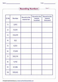 math worksheets for grade 4 rounding rounding to whole rounding whole numbers worksheet artgumbo