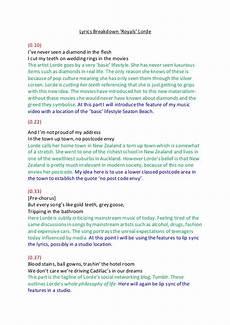 lyrics breakdown royals by lorde
