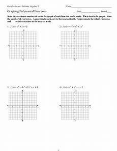 graphing polynomial functions worksheet for 11th grade