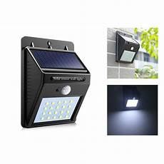 pir motion sensor bulb led solar light 20 led outdoor power wall light street path home garden