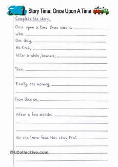 story writing worksheets for grade 5 22944 read and complete once upon a time story writing writing worksheets story writing prompts
