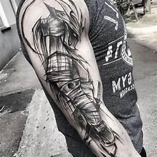 1001 coole und effektvolle samurai ideen tattoos - Mann Arm