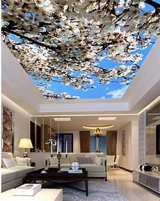 flower wallpaper ceiling 3d room wallpaper landscape ceilings beautiful flowers sky