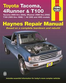 automotive service manuals 1998 toyota 4runner head up display toyota tacoma 95 04 4runner 96 02 t100 pick up truck 93 98 haynes service repair manual
