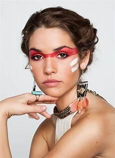 ohrringe und make up fasching indianer make up kost 252 m