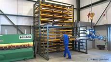 sheet metal rack metal sheet storage rack with extendable drawers youtube