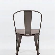 Chaise Industrielle Vintage En M 233 Tal Avec Assise Bois