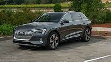 2019 audi e first review all electric suv tackles an uphill battle roadshow