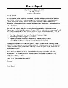 cover leter exles human resources best human resources cover letter sles livecareer
