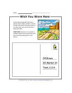 task based descriptive paragraph writing worksheets
