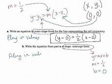 point slope word problem exle 5 youtube