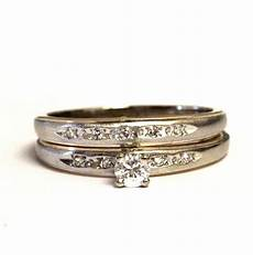 10k white gold 31ct diamond engagement ring wedding band