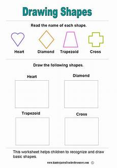 drawing shapes worksheets 1081 shape worksheets