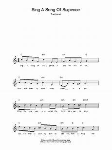 sing a song of sixpence sheet music direct