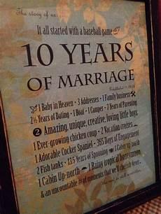 Ten Year Anniversary Ideas