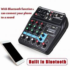Bluetooth Audio Mixer Bluetooth Connection Audio by Portable Bluetooth A4 Sound Mixing Console Audio Mixer