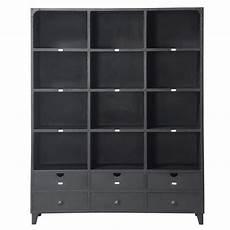 edison libreria libreria nera stile industriale in metallo l 160 cm edison