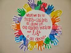 11 hands on activity ideas for early childhood special children s hand print wreath w quote in center infant