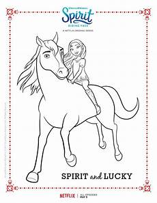 Malvorlagen Spirit Spirit Free Spirit And Lucky Coloring Page Books