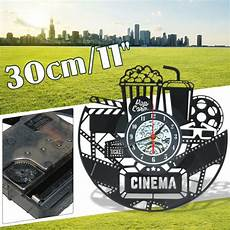 Inch Black Popcorn Wall Clock Theater by 30cm Black Popcorn Wall Clock Cinema Snack Bar Sign