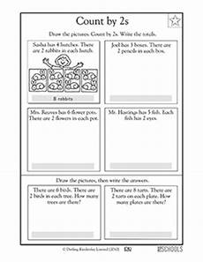 skip counting stories worksheets 11990 1st grade math worksheets visualizing skip counting by 2 greatkids