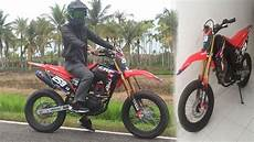 Modifikasi Motor Crf 150 by Modifikasi Honda Crf 150l Bikin Motor Kian Gagah Tribun