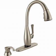 delta touch kitchen faucet delta dominic singlehandle pulldown sprayer kitchen faucet with touch2o technology and soap