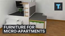 Apartment Without Furniture by Furniture For Micro Apartments