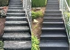 alte betontreppe sanieren treppe sanieren mit steinteppich treppenbelag
