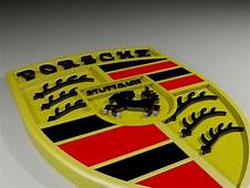 Porsche Cars Logo 3D Model Printable DWG  CGTradercom
