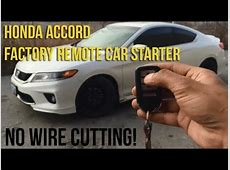 2013 Honda Accord (Remote Starter From Factory Key Fob