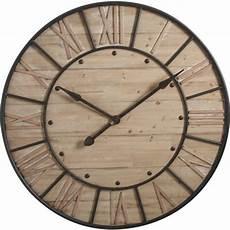 Grande Horloge Murale Ronde En Bois Boisnature L
