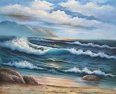 peinture vagues mer tableau peint th 232 me marin