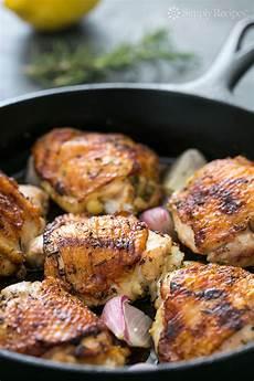 skillet lemon rosemary chicken recipe simplyrecipes com