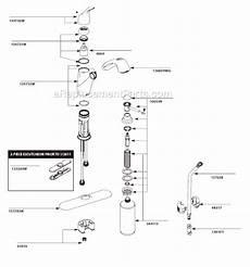 moen kitchen faucets parts diagram moen ca87666w parts list and diagram ereplacementparts