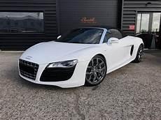 audi r8 spyder occasion annonce vendue audi r8 i spyder v10 5 2 fsi quattro r tronic 525ch cabriolet blanc occasion 80