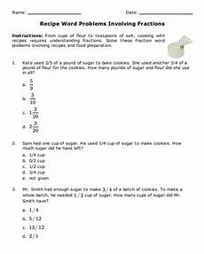 fractions worksheets grade 5 word problems with answers 4233 free math worksheet recipe word problems involving fractions fractions 5thgrade 5th