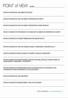 grammar worksheets consistent point of view 24725 point of view writing worksheet wednesday